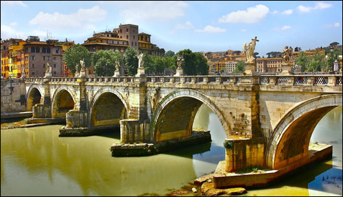 St. Angel's Bridge in Italy