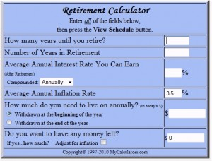 Retirement Calculator: Retirement Calculator Free Online